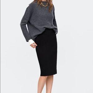 Zara Women's Black Skirt Sz Small Career Work NEW